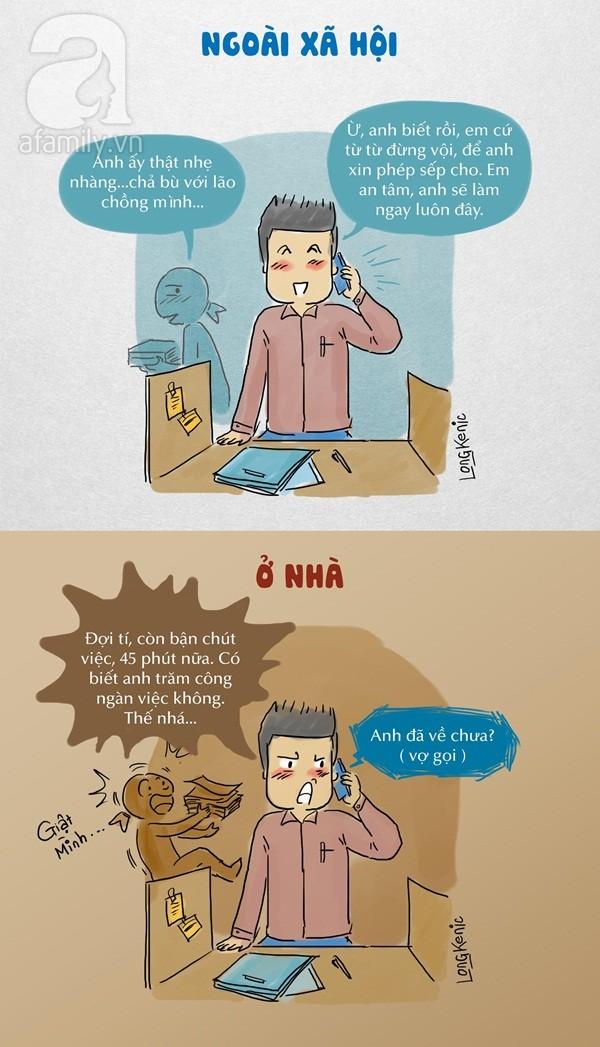 Chồng bạn ở nhà và bên ngoài có gì khác nhau?