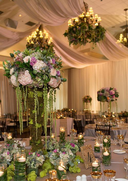 Trang trí đám cưới màu xanh mộc