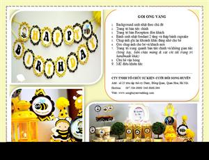 Báo giá các gói sinh nhật tại Song Huyền