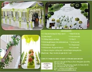 Báo giá các gói trang trí tiệc cưới tại Song Huyền