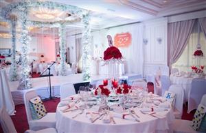 Đám cưới tone đỏ - trắng tại khách sạn dành cho các đôi đại gia