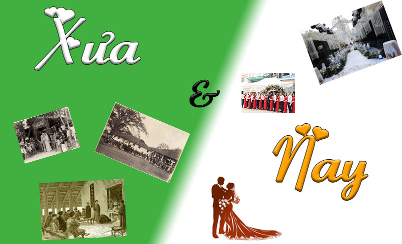 Giật mình vì sự khác biệt giữa đám cưới ngày xưa và hiện đại