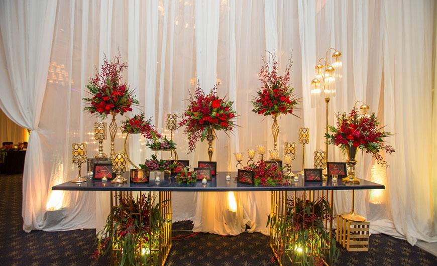 tự trang trí bàn lễ tân đám cưới
