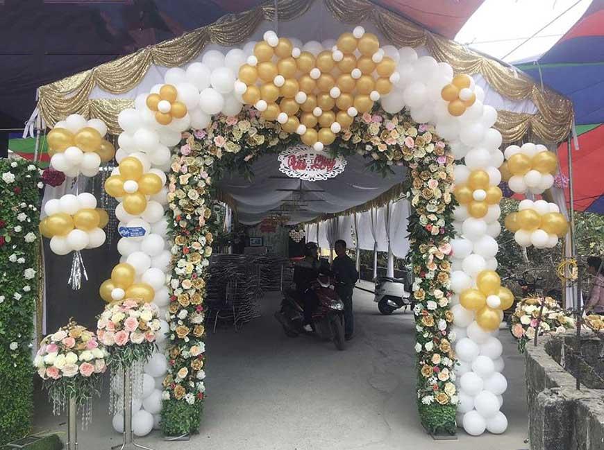 cổng cưới bóng bay đẹp