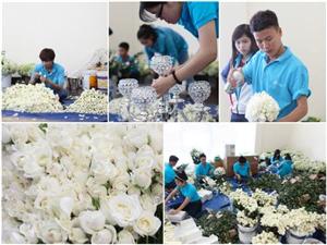 50.000 bông hoa hồng được sử dụng để trang trí đám cưới Thủy Tiên-Công Vinh