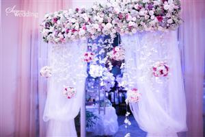 Đám cưới được trang trí đẹp ngoài trời