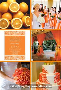 8 màu sắc lãng mạn trong đám cưới vào mùa thu