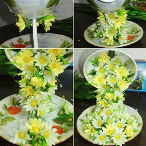 Hướng dẫn cắm hoa cưới để bàn đẹp
