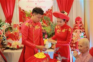 Ăn hỏi của cô dâu chú rể Kim Ngân - Công Cường
