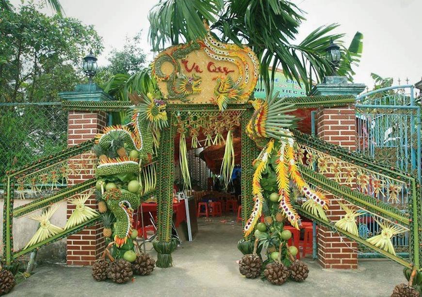 Album cổng cưới lá dừa