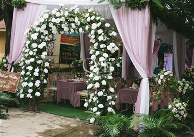Phông cưới đám cưới Huyền Dũng