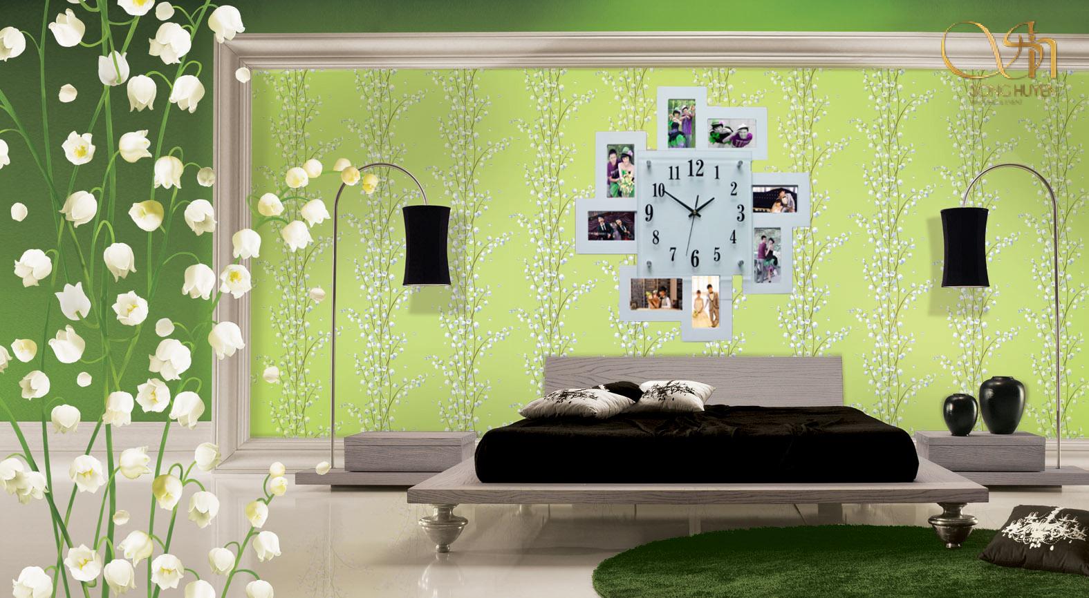 Mẫu trang trí ảnh cưới treo tường đầy lãng mạn cho các cặp đôi yêu nhau